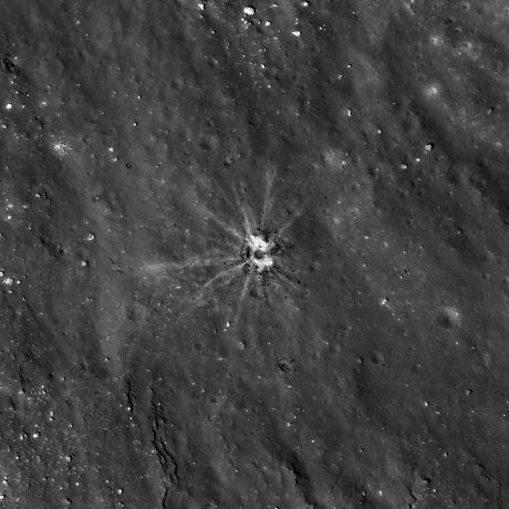 Lunar Reconnaissance Orbiter - Rays From Tiny Crater