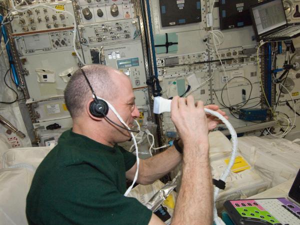 International Space Station - Ultrasound Eye Imaging