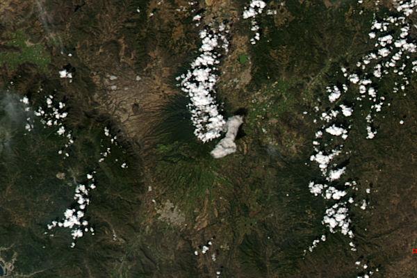 Eruption of Colima volcano, Mexico