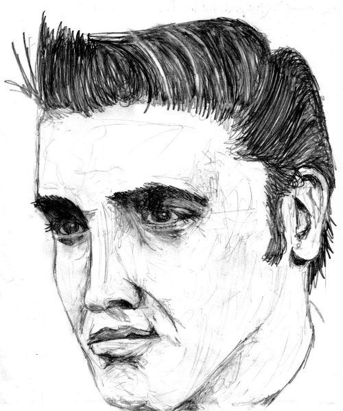 Elvis Presley pencil sketch