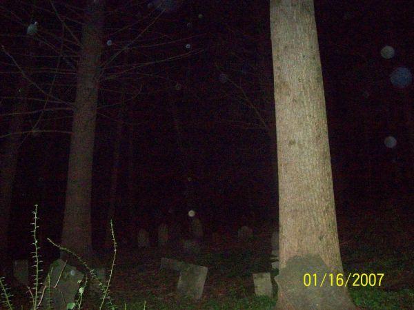 Orbs in cemetery