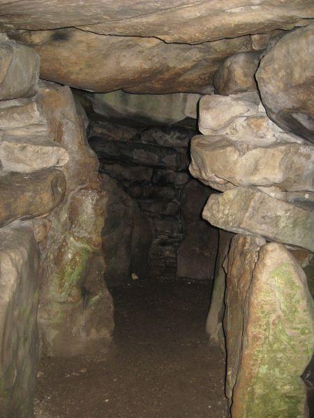 Inside avebury long barrow.