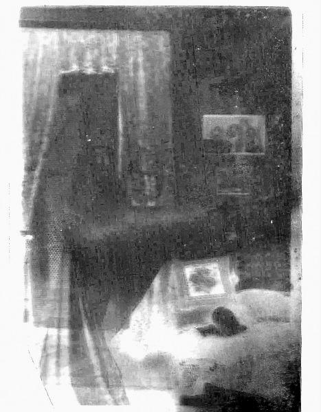 Original negative of sitting room spirit