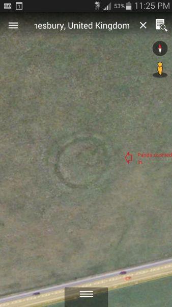 Panda Face SE Of Stonehenge site zoomed In.