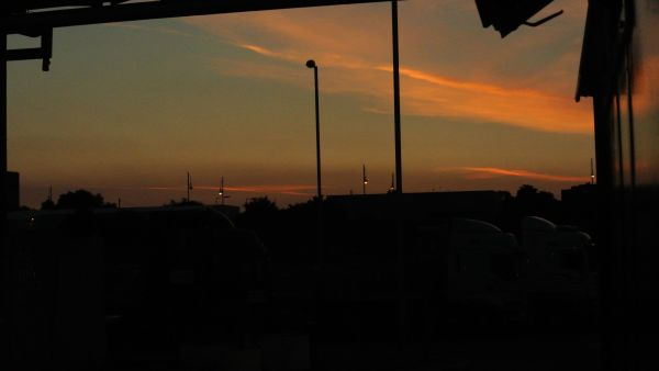 Morning sky . liverpool