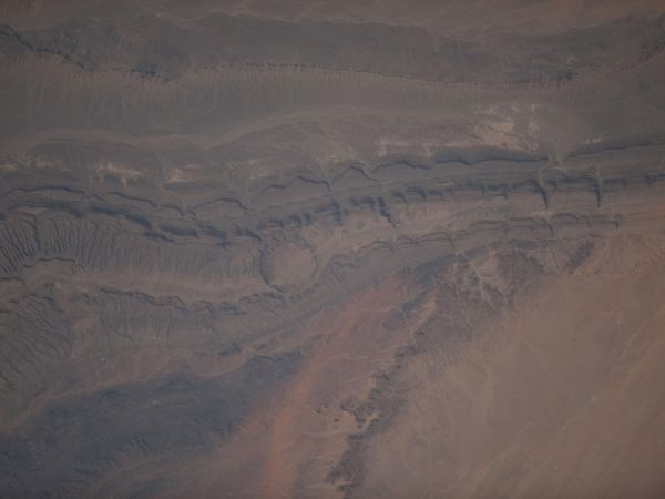 International Space Station - The Ouarkziz Impact Crater