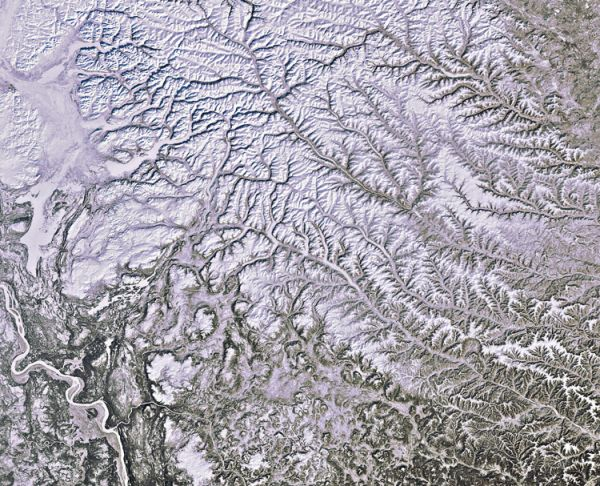 Earth from Space: Snowy Siberia