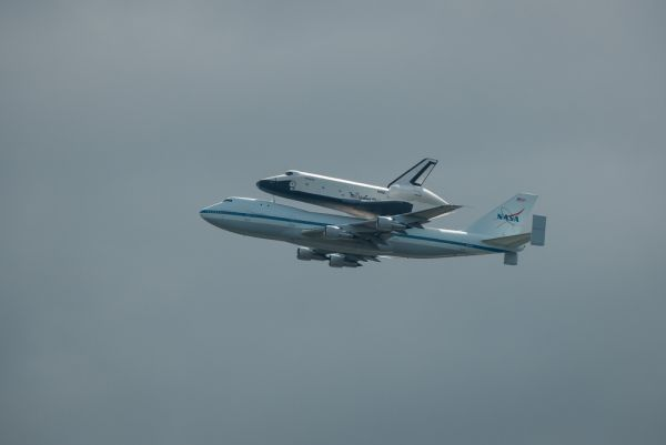 Enterprise on the move -Shuttle Enterprise Flight To New York