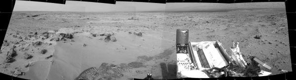Curiosity's Eastward View After Sol 100 Drive