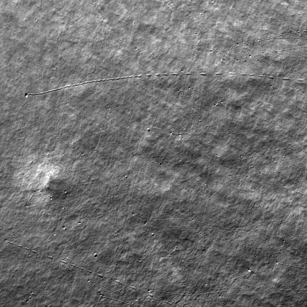 Lunar Reconnaissance Orbiter - Bounce, Roll, and Stop