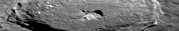 Lunar Reconnaissance Orbiter - Oblique view of Tycho crater