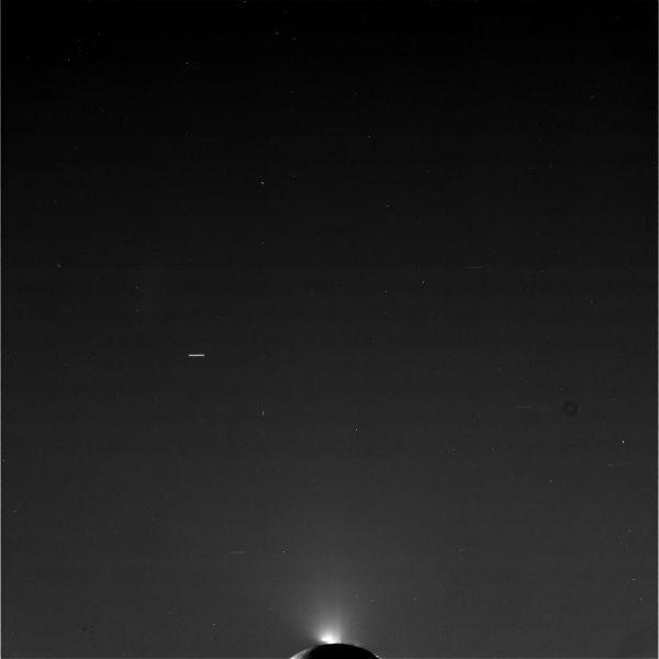 Cassini - Enceladus Spray (Raw Image)