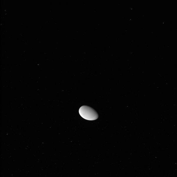 Cassini - Tiny Methone (Raw Image)