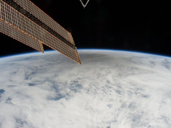 International Space Station - Shadow of the Moon Created by the May 20 Solar Eclipse [3]