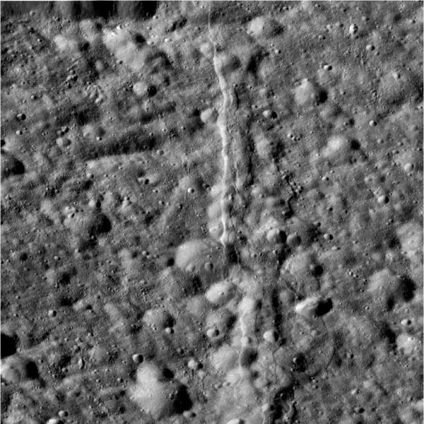 Cassini - Dione Up Close (Raw Image)
