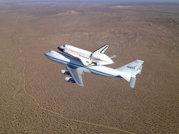 Endeavour's Final Journey - Over Southern California