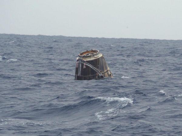 International Space Station - SpaceX Dragon After Splashdown