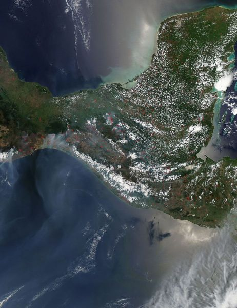 Fires and smoke in Central America