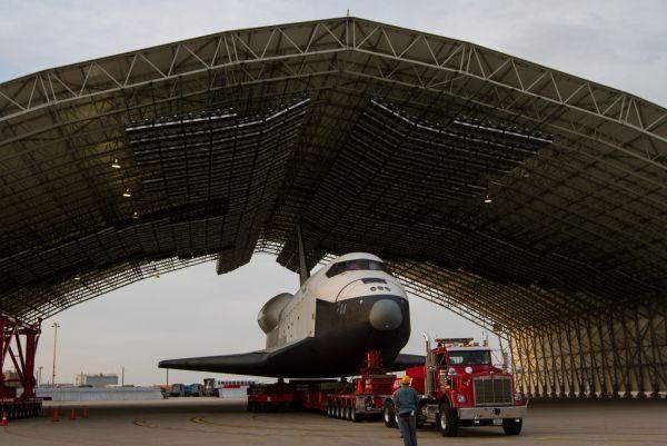 Enterprise on the move -Space Shuttle Enterprise Demate