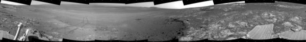 Opportunity's Surroundings on Sol 3071, on 'Whitewater Lake' Outcrop