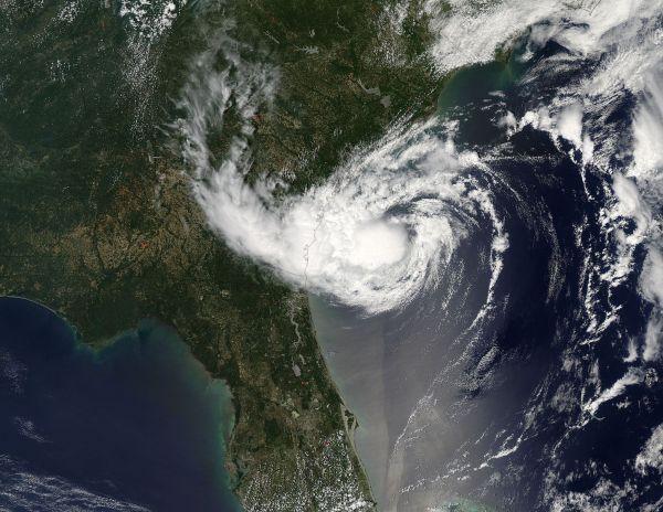 Tropical Storm Alberto (01L) off the coast of Georgia