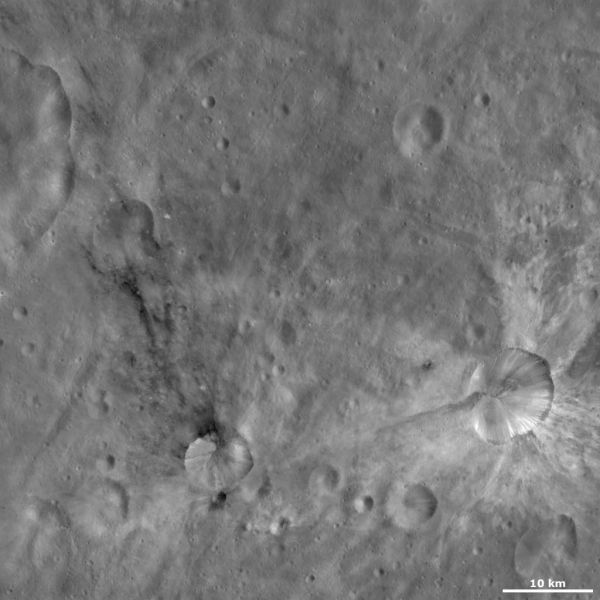 Vesta - Sossia and Canuleia craters