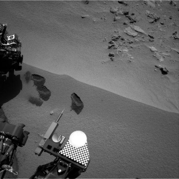 Curiosity's First Three Bites Into Martian Ground