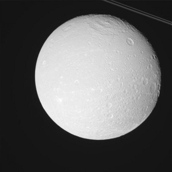 Cassini - Radiant Dione (Raw Image)