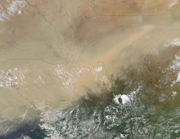 Dust over West Africa