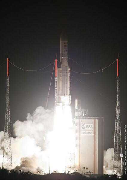 Liftoff of Ariane VA206