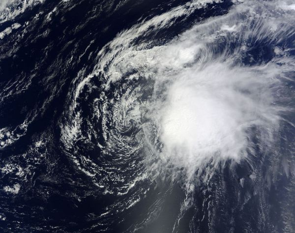 Tropical Storm Oscar (15L) in the North Atlantic