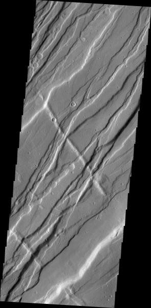 Mars Odyssey - Tempe Fossae