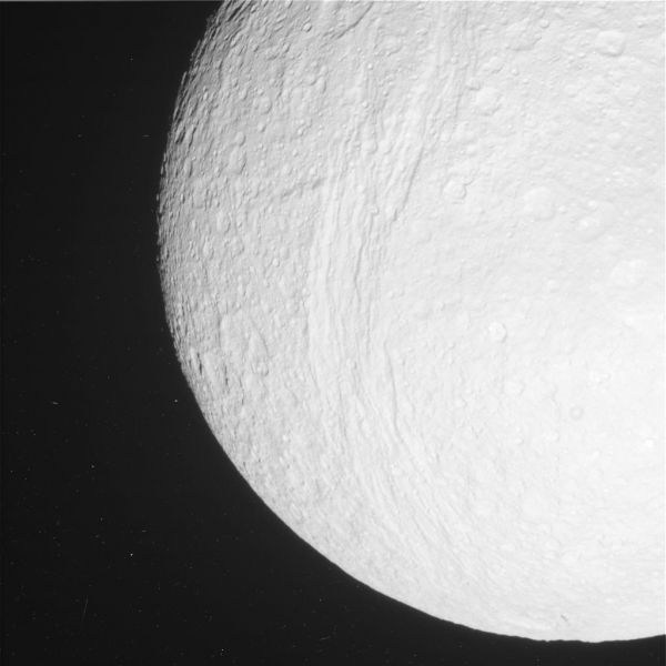 Cassini - Tethys in View (Raw Image)