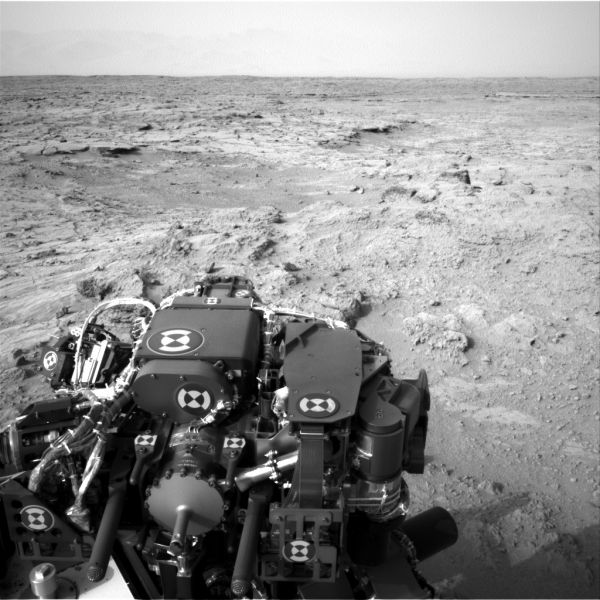 Post-Drive View on Curiosity's Sol 102