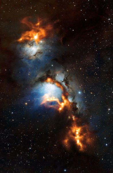 Cosmic dust clouds in Messier 78