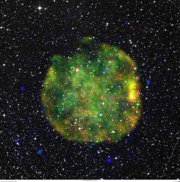 Aftermath of a stellar explosion