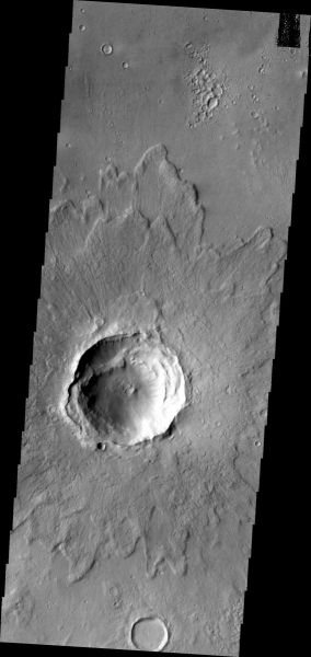 Mars Odyssey - Crater ejecta
