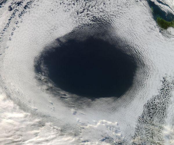 Clouds off Tasmania