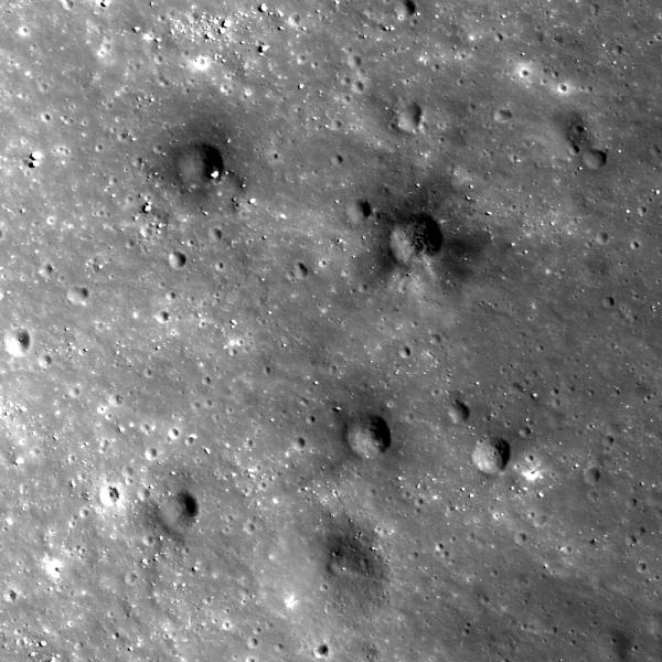 Lunar Reconnaissance Orbiter - Dark Secondary Crater Cluster