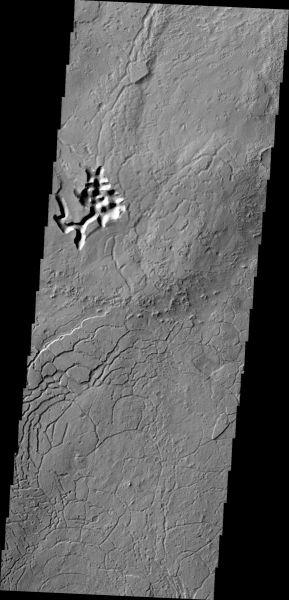 Mars Odyssey - Arcuate Fratures