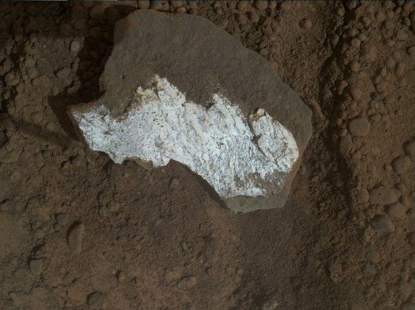 Close-up View of Broken Mars Rock 'Tintina'