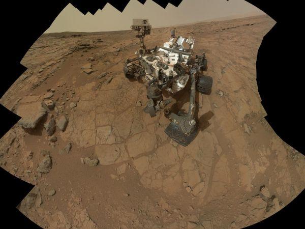 Curiosity Rover's Self Portrait at 'John Klein' Drilling Site