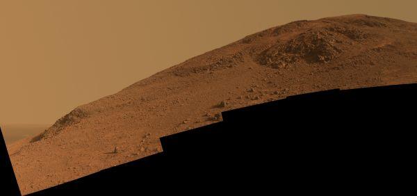 Steep 'Knudsen Ridge' Along 'Marathon Valley' On Mars