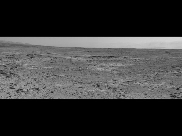 "Curiosity's View Of ""Cooperstown"" Outcrop On Route To Mount Sharp"
