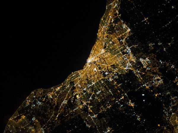 Night View of Cleveland