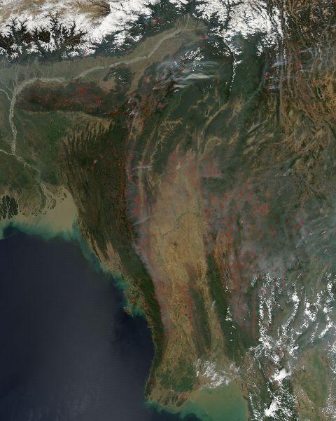 Fires in Myanmar