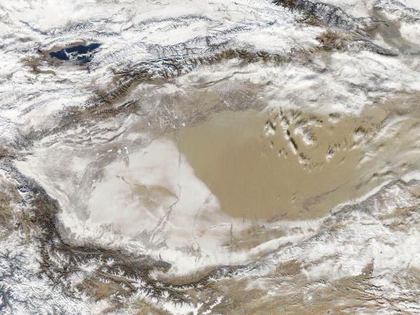 Snow-Covered Desert