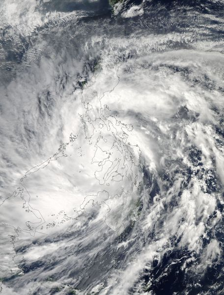 Super Typhoon Haiyan (31W) over The Philippines