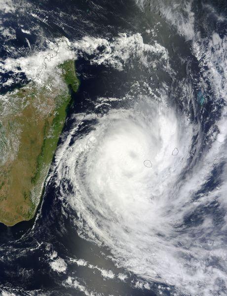Tropical Cyclone Dumile (07S) over La Réunion