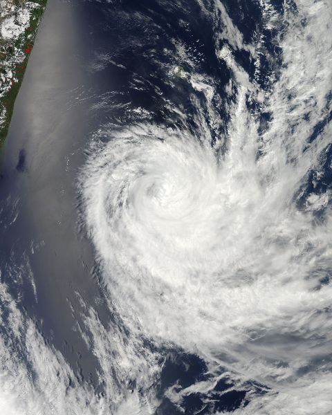 Tropical Cyclone Dumile (07S) off Madagascar